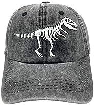 NVJUI JUFOPL Boys' Funny Embroidered Baseball Cap Vintage Washed Adjustable Dad Hat for