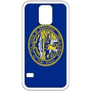Nebraska NE State Flag White Samsung Galaxy S5 Cell Phone Case - Cover