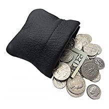 Classic Leather Squeeze Coin Purse change Holder For Men By Nabob