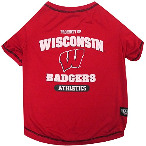 (NCAA Wisconsin Badgers Dog T-Shirt, Large)