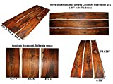 Cocobolo boards set #11, 72.625'' long x 8.75'' wide x 1.25'' thick