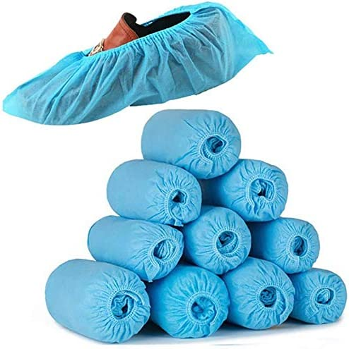 Nuwbay 100 Pack(50 pairs) Disposable Shoe & Boot Covers for Construction, Medical, Workplace, Indoor & Outdoor Protection(LightBlue) - - Amazon.com