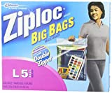 Ziploc Big Bag Double Zipper, Large, 30-Count (y5frg9) Ziploc-m2k9