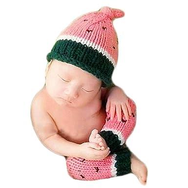 Amazon.com: Bebé Fotografía Props sandía sombrero leggings ...
