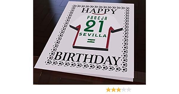 LA ESPAÑOLA LIGA-DESIGN, CAMISETA DE FÚTBOL DE CUMPLEAÑOS, PERSONALIZADO, CADA NOMBRE Y CADA NÚMERO, TODOS LOS ColourES! - Sevilla FC Football Team