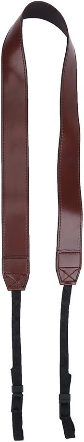 Coffee Adjustable PU Leather Camera Shoulder Neck Strap Belt Photography Accessory