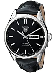TAG Heuer Mens WAR201A.FC6266 Analog Display Automatic Self Wind Black Watch