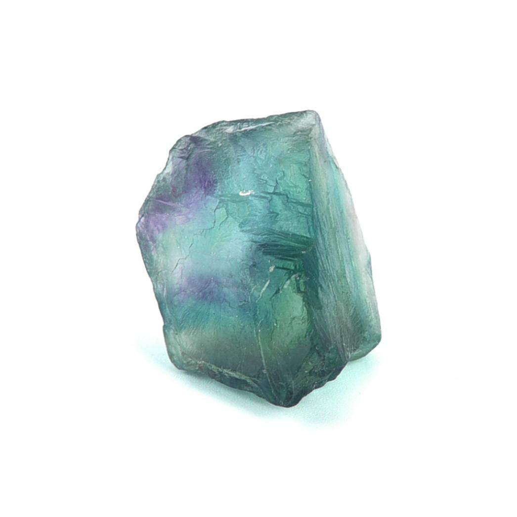 Hmlai Clearance Natural Irregular Crystal Quartz Healing Fluorite Wand Stone Purple Green Gem (5-6cm)