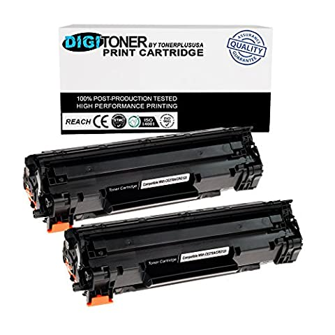 TonerPlusUSA New Compatible Canon 128 CRG128 Laser Toner Cartridge Replacement (Black, 2 Pack) (Toner Cartridge For Cannon)