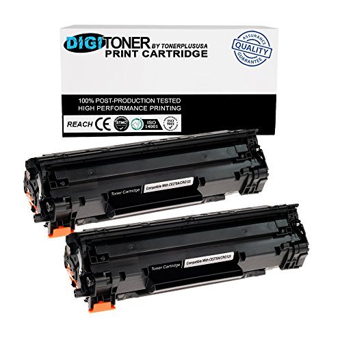 TonerPlusUSA New Compatible CE278A 78A Toner Cartridge for HP P1560 P1566 P1600 P1606 M1536 (Black, 2 Pack)