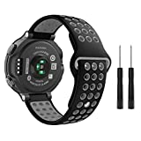 MoKo Garmin Forerunner 235 Watch Band, Soft Silicone Replacement Watch Band for Garmin Forerunner 235/220/230/620/630/735XT, Approach S20/S5/S6 Smart Watch, Black + Gray Review