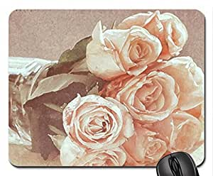 Pale Roses Mouse Pad, Mousepad (Flowers Mouse Pad, Watercolor style)