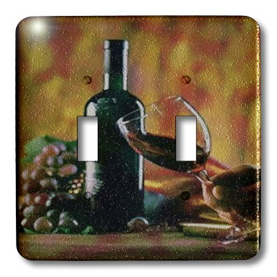 3dRose LLC lsp_36496_2 Glass Of Wine In Napa, Double Toggle - In Napa Outlets