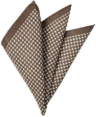 (ザ・スーツカンパニー) ジャカード織り シルクポケットチーフ オフホワイト×ブラウン