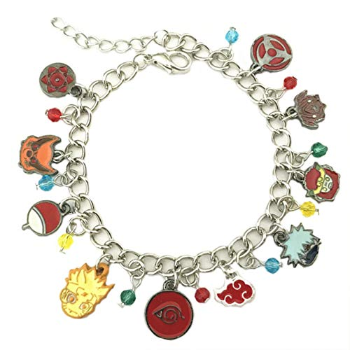 Naruto Charm Bracelet Quality Cosplay Jewelry Anime Manga Series with Gift Box