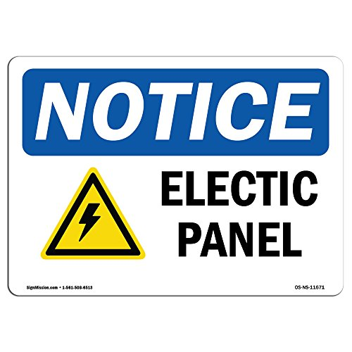 OSHA Notice Signs - Electrical Panel Sign with Symbol | Extremely Durable Made in The USA Signs or Heavy Duty Vinyl Label Decal | Protect Your Construction Site, Warehouse & Business