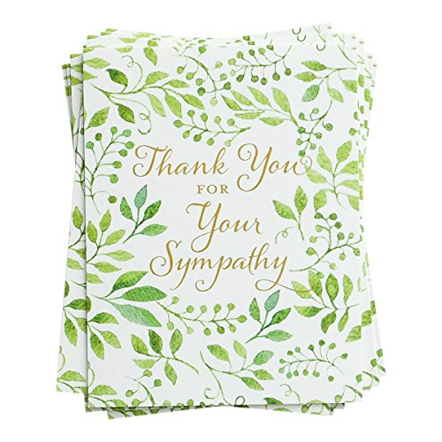 Sympathy Notes - Thank You for Your Sympathy Greenery