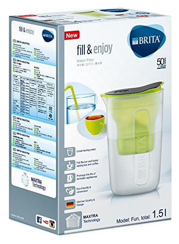 BRITA 1 Cartouche Filtrante Maxtra incluse 1.5L Rose Fun Carafe Filtrante