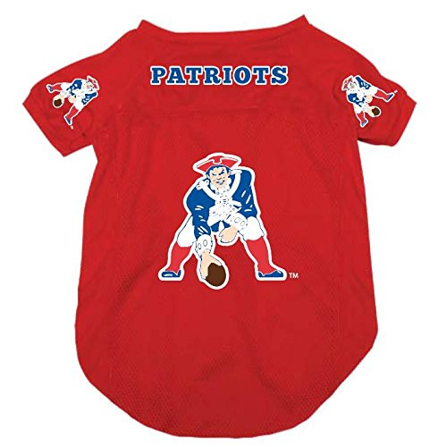 Pet Dog Mesh Football Jersey Throwback Style LARGE RED (New England Patriots Throwback Jersey)