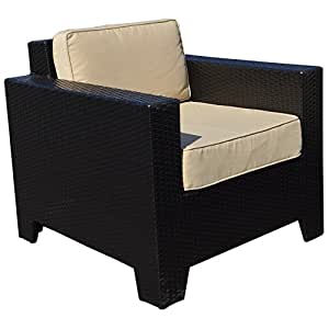 Cambridge Outdoor Rattan Garden Chair in Black All Weather Furniture