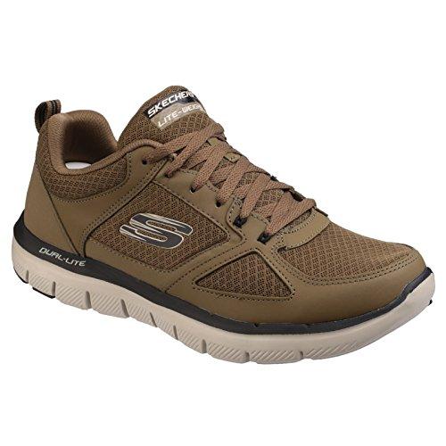Oliva Uomo Skechers Lindman Flex 0 Advantage Nero Sneaker 2 qw4qT8U