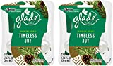Glade Plugins Scented Oil Refills - Holiday Collection 2016 - Sparkling Spruce - Timeless Joy - Net Wt. 1.34 FL OZ - 2 Count Refills Per Package - Pack of 2 Packages
