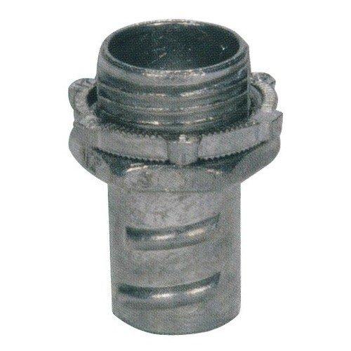 Connectors Conduit Flex (Morris Products 15072 Screw-In Connector, For Greenfield/Flex Conduit, Zinc Die Cast, 3/4
