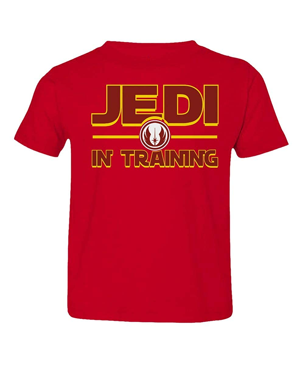 Societee Jedi in Training Star Force Cool Retro Little Kids Girls Boys Toddler T-Shirt