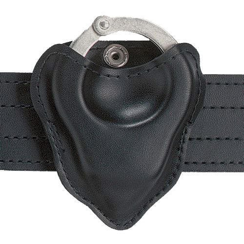 (Safariland 090H-22 Handcuff Pouch Open Top For Hinged Handcuffs, Black, Nylon Look)