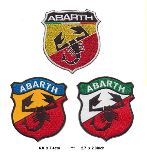 abarth-lot-of-3-iron-sew-on-cotton-patches-auto-cars-tuning-lancia-fiat-500-italy-by-rsps-embroidery