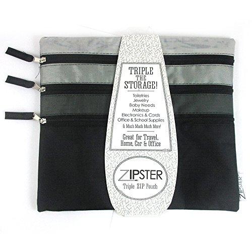 Triple Zip Pouch - 8