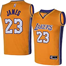 OuterStuff Youth Los Angeles Lakers #23 LeBron James Kids Gold Jersey