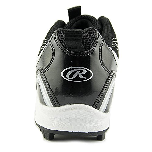 Rawlings Base Invader Low W Runde Zehe Suede Cleats Schwarz-Weiss