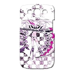 Universal 3D Hard Plastic Case Snap on Samsung Galaxy S3 I9300,Beautiful Great Animated Printed Cover Black Rock Shooter Caricature Theme Skin Case
