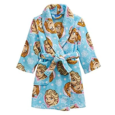 Disney Frozen Elsa Girl's Fleece Bathrobe Robe (Toddler/Little Kid/Big Kid)
