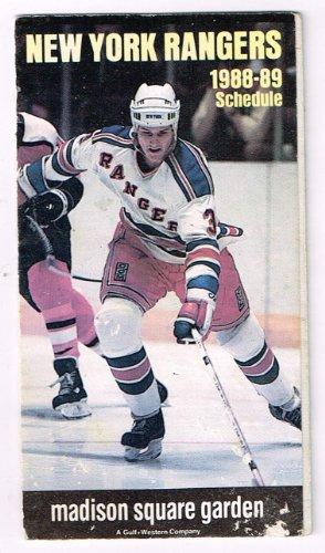 New York Knicks Schedule - 1988/1989 NHL Hockey NBA Basketball New York Rangers And Knicks Team Schedule