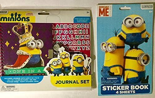 Minions Despicable Me Journal Set Plus Minions 4-page Sticker Book