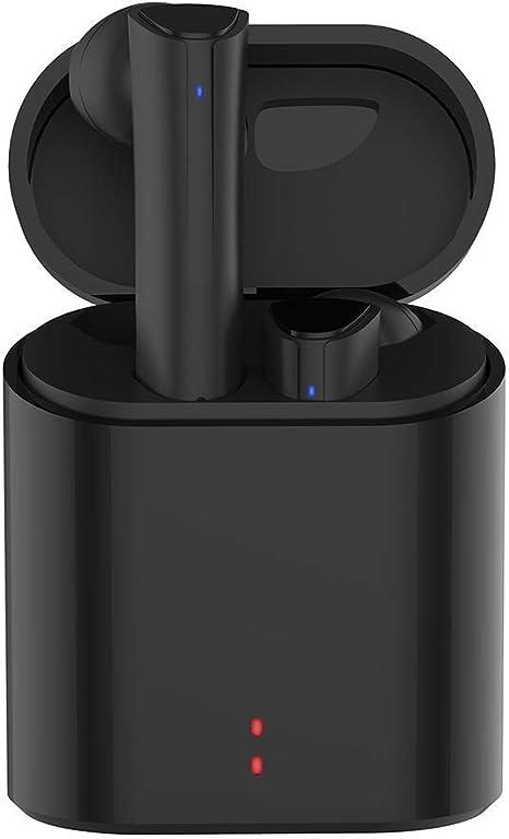 Auricolari Wireless Bluetooth Senza Fili Cancellazione Rumore Stereo Cuffie con Stazione di Ricarica e Microfono Incorporato per iPhone Samsung Huawei Sony Blackberry HTC
