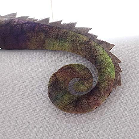 Huangjiaju Simulaci/ón Camale/ón Lagarto Mu/ñeca Peluche Juguete Camale/ón Coj/ín Creativo Verde,1M