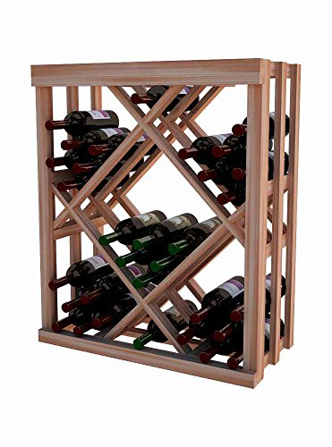 Wine Cellar Innovations DAH-UN-ODIAM-A3 Designer Series Open Diamond Bin Wine Rack, Allheart Redwood, Without Lacquer Finish, Unstained