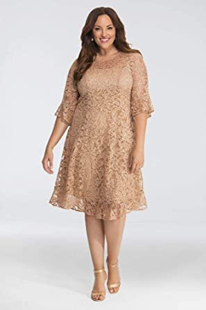 Sofia Sequin Lace Plus Size Mother of Bride/Groom Dress Style ...