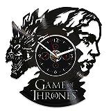 Handmade Vinyl Record Wall Clock Game of Thrones Clock Wall Clock Large Gift for Man Game of Thrones Gift Daenerys Clock Wall Clock Vintage GoT Clock Jon Snow Gift 12 inch Clock Game of Thrones Art