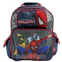 Spiderman Large Backpack - Half Face - Full Size Half Face Spider-man Backpack