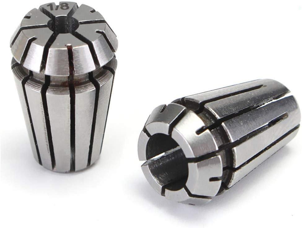 Doolland 2pcs ER11 1//4 1//8 pouce Ensemble de pince /à ressort pour mandrin de pince /à tour CNC