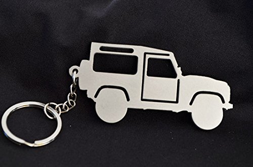 Custom Stainless Steel Keychain for Land Rover Defender Enthusiasts