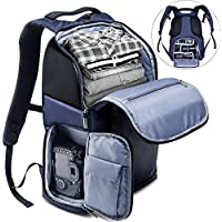 Camera Backpack, K&F Concept Waterproof Camera Bag with Tripod Strap Large Capacity Daypack for Digital SLR Camera, Speedlite Flash, Tripod, Laptops, Camera Lens and Accessories