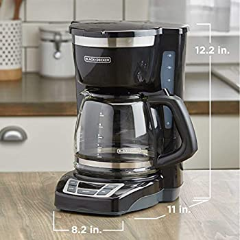 BLACK+DECKER 12-Cup Programmable Coffeemaker, Black, CM1160B
