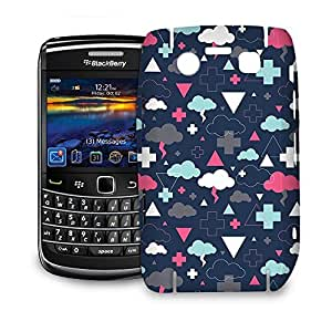 Phone Case For BlackBerry Bold 9700 - Geometric Thunder Clouds Protective Glossy