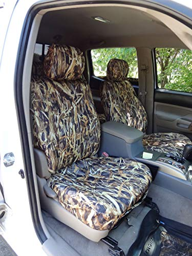 Durafit Seat Covers, T914-SA C Toyota Tacoma SR5 Front Bucket Seat Covers in Savannah Camo Endura Without Airbags in -