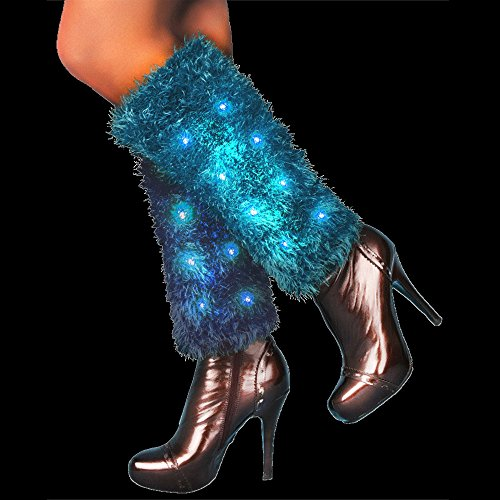 Fun Central AI348 LED Light Up Leg Warmers - Blue -